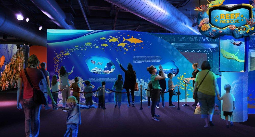 """""""Reef Rescue,"""" HCVR Attraction, Aududon Aquarium of the Americas"""