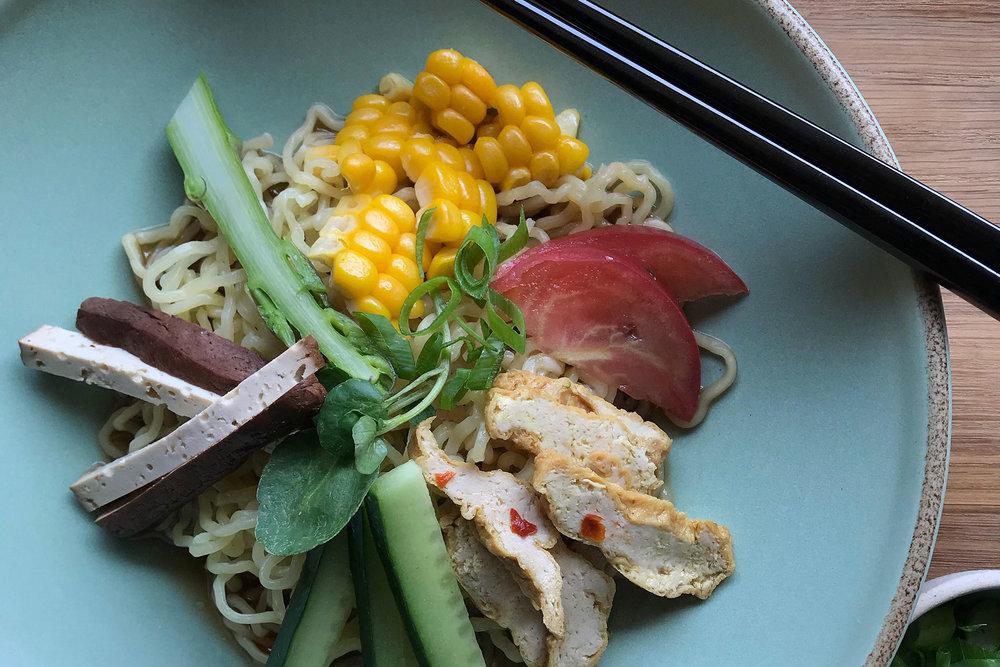 Inspiration: Hiyashi Chucka with Thai Curry Nuggets