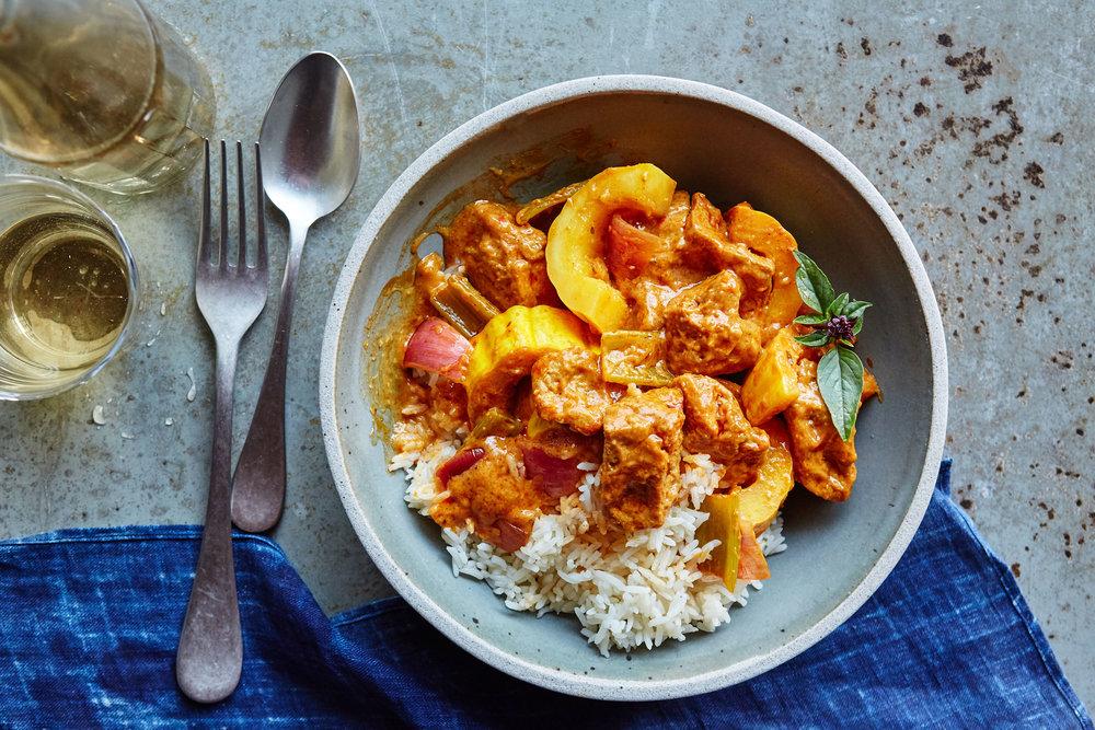 Hodo Thai Curry Nuggets and Kabocha Squash Autumn Stew