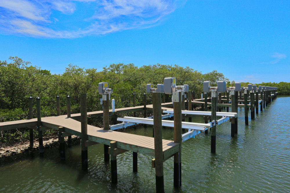 Dock and boat lift