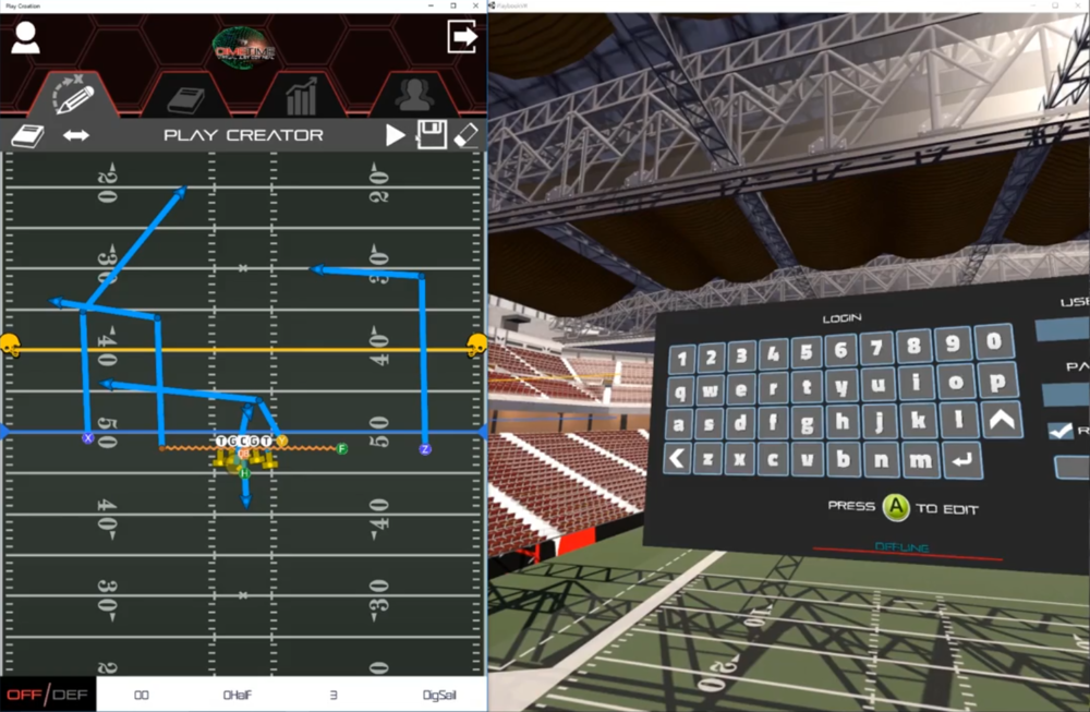 Screenshot of the Play Creator within the DimeTime application.