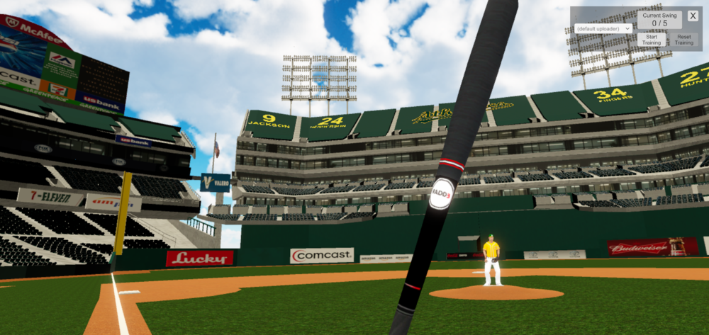 Special Features - Using a haptics, sound-enabled, and tracked object baseball bat, we are able to accurately track: