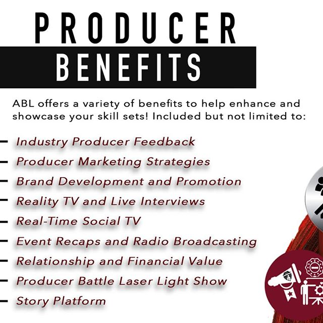 ABL offers a variety of benefits that will assist in promoting you as an individual producer while enhancing your skill sets across the board! . . Click LEARN MORE on our website and check out what we have to offer. #linkinbio
