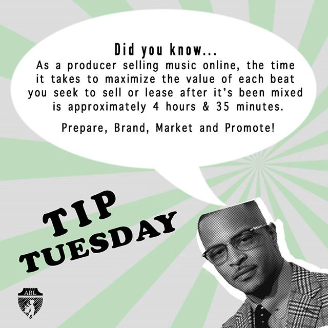 Promotion doesn't just evolve out of thin air. Have a plan ready and execute it! Seek branding and marketing opportunities to help give you that extra push. It's all a part of the game #YaDig. . . #TIPTuesdays #ASAPBeatLeague