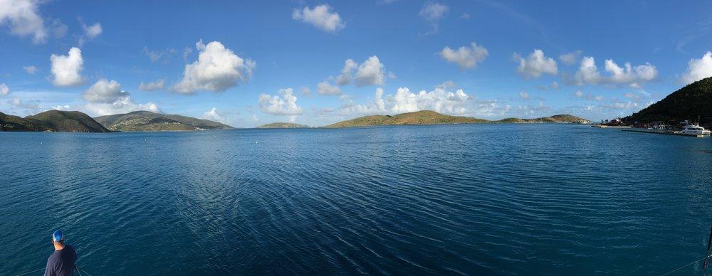 Panoramic photo of North Sound, Virgin Gorda, BVI