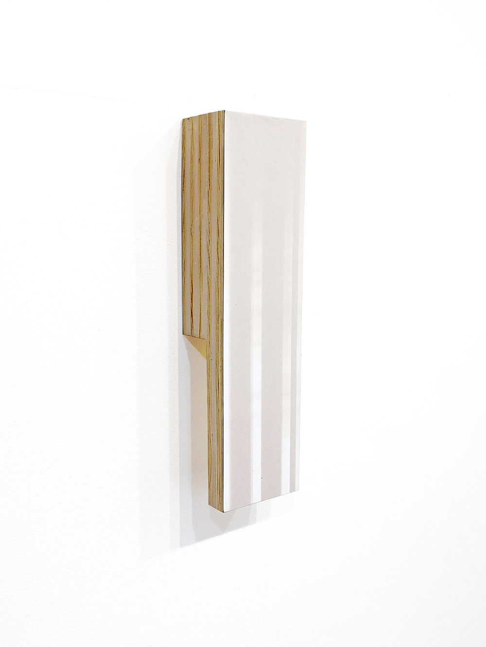 Ben Dallas About Nothing 25, 2018 Acrylic Glaze, Board, Plywood, Spackle 12 x 3.5 x 2.25 inches