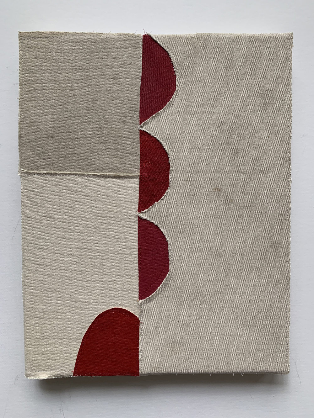 Jonathan Parker SC # , 2019 Acrylic on canvas, sewn 14 x 11 inches