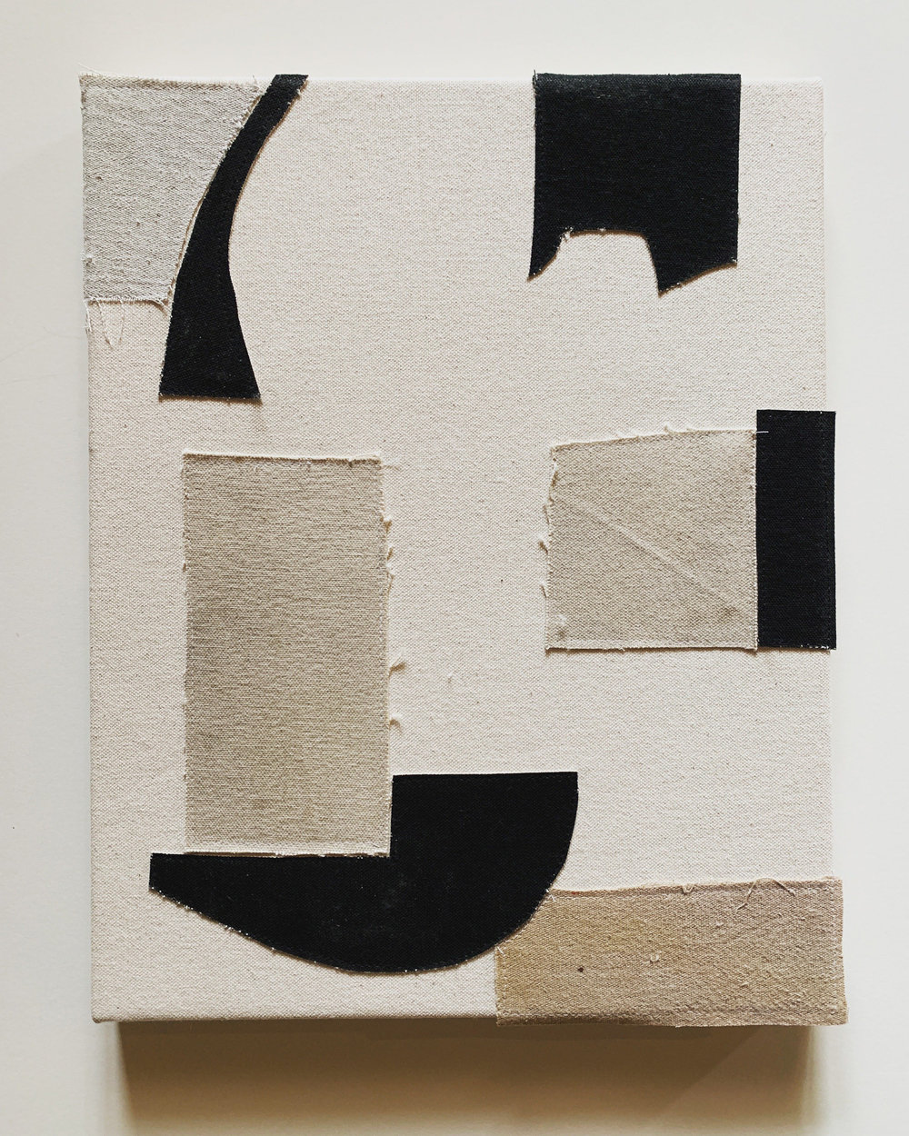 Jonathan Parker SC #100, 2019 Acrylic on canvas, sewn 14 x 11 inches