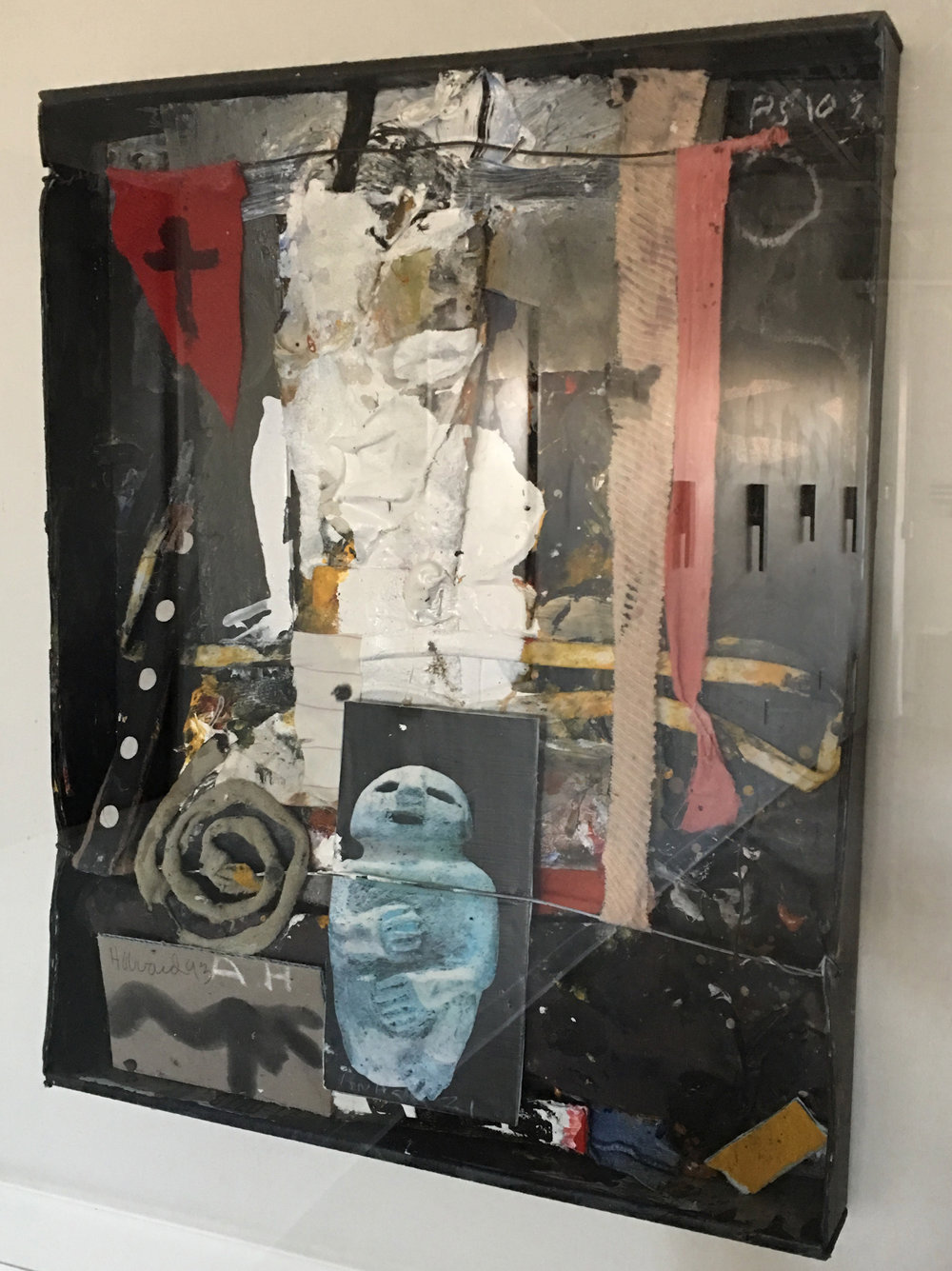 James Havard  Anasazi , 1993 Collage and mixed media in plexiglass box 21 x 17 inches object, 30 x 26 inches box/frame