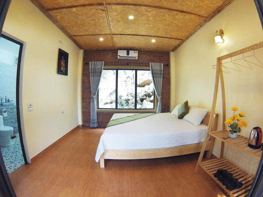 Private Room: Single Occupancy Cabana (Double Bed), Private Bathroom and Porch