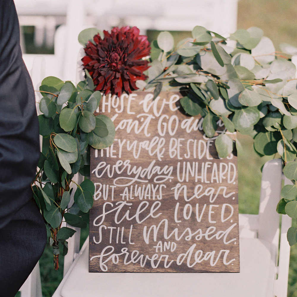 Those We Love Don't Go Away · Hand Lettered Sign by Wanderlove Calligraphy & Design