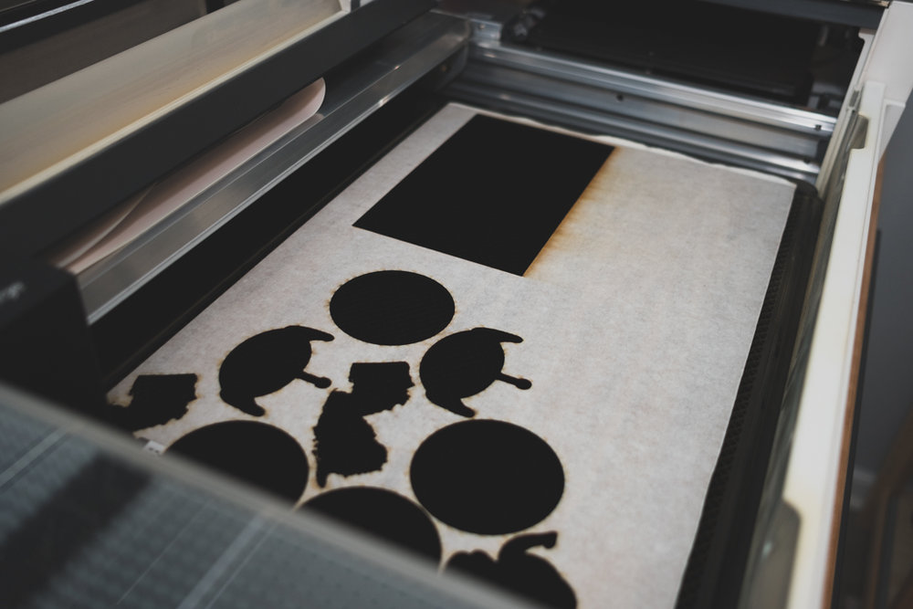 Inside Our Glowforge - Wanderlove Calligraphy & Design