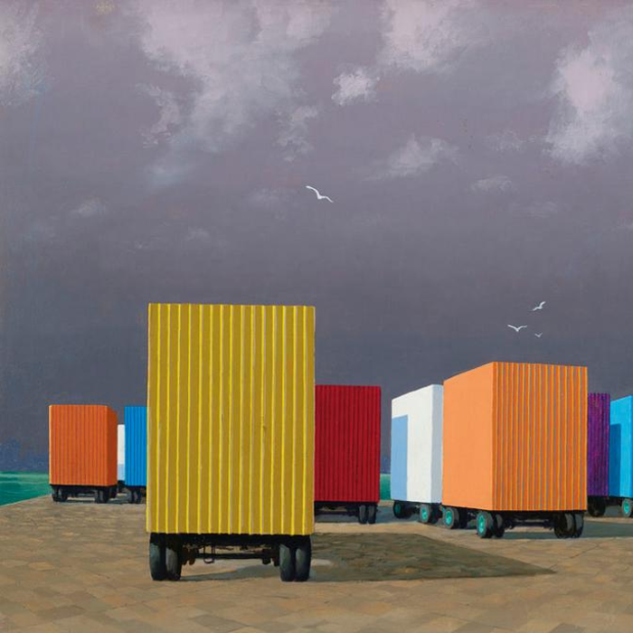 Cover art:  Jeffrey Smart ,  Waiting Containers, Syracuse Harbor  (crop)