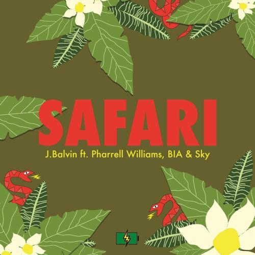 "58. J Balvin ft. Pharrell Williams, BIA & Sky, ""Safari"""