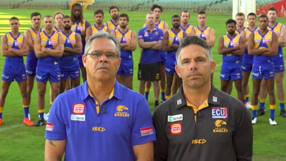 The West Coast Eagles used education and unity to drive their point in the face of out-date racism experienced by their players.