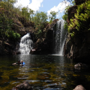 Alex and I swimming at Florence Falls, Litchfield National Park. Northern Territory.
