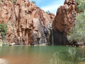Swimming at Python Pool, Millstream National Park, WA