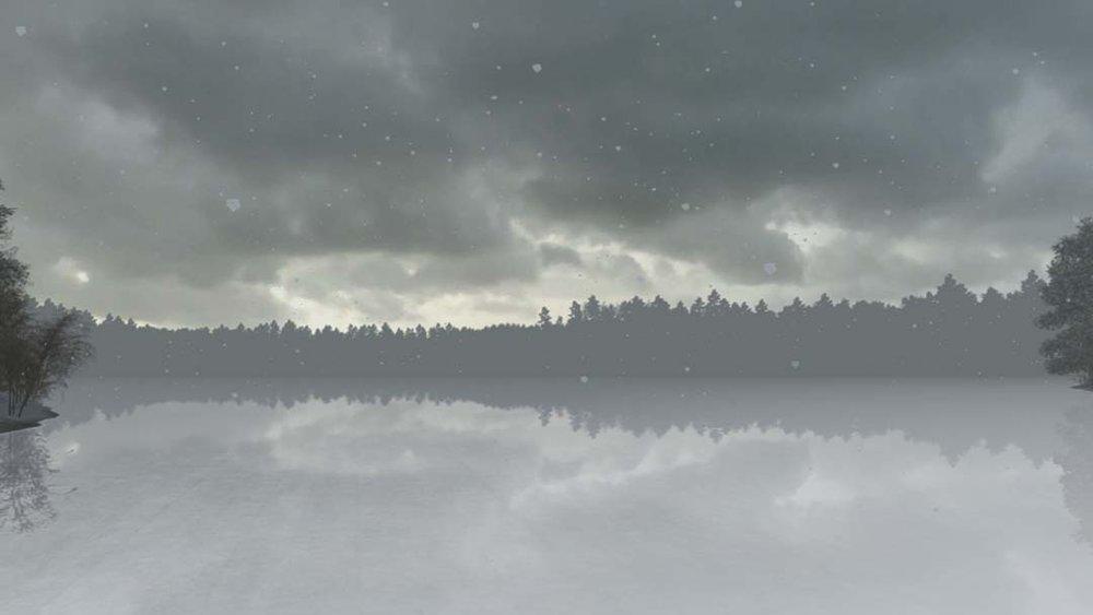 Early Winter Pond in Snowfall.jpg