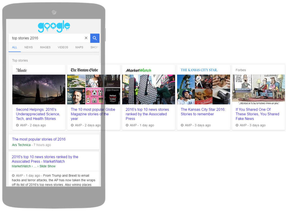 amp google carousel stories