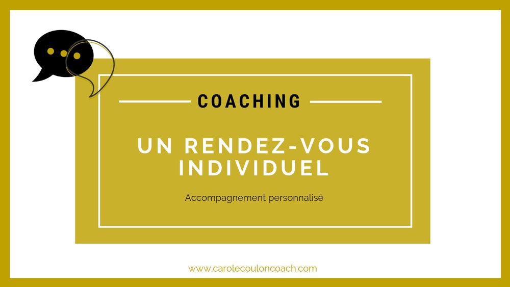 Le coaching - Est-ce bien pour vous?que pouvez-vous en attendre?Mon offre d'accompagnement individuel