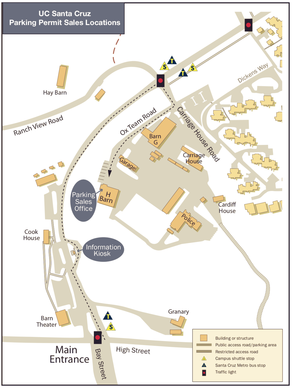 UC Santa Cruz Parking Permit Sales Locations