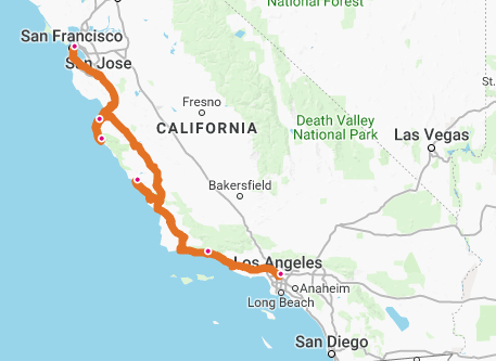 Pacific West Coast Usa Travel Architects - West-coast-of-us-map