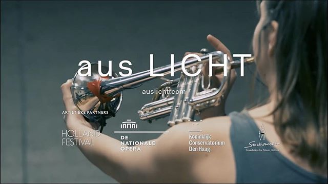 Curious about what I'll be doing for the next 6 months? Check out the new promotional video from @nationaleoperaballet where we explain what aus LICHT is and give some hints about what to expect at this year's @hollandfestival - Link in bio! 🎺
