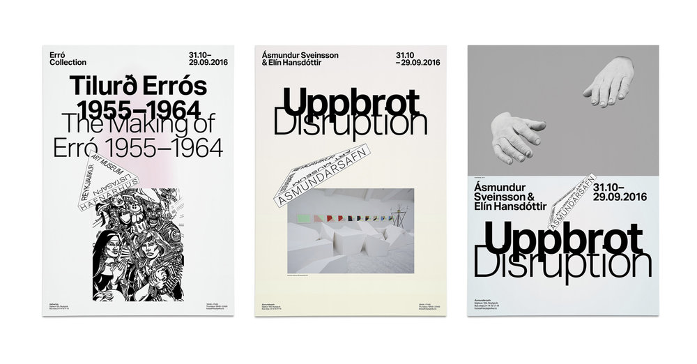 Exhibition Posters for the different locations.