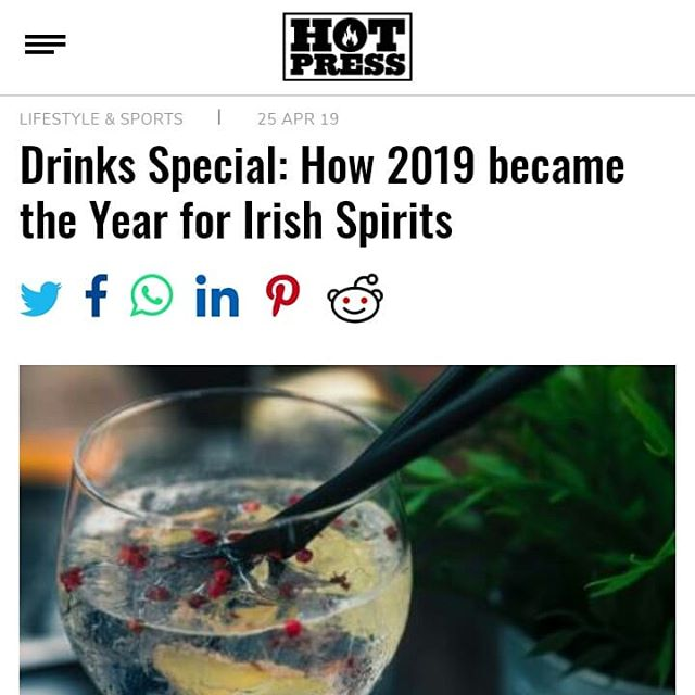 "Now this is what we call Rock 'n Roll💃💃 We have been mentioned in Hot Press & we are making ""Drinks Industry History"" Thank you @hotpressmagazine 🙌🙌💃💃 #ginandtonic #alcoholfreespirit #irishbiz #dublinstartup #irishpubs #soberissexy #soberliving #hangoverfree"