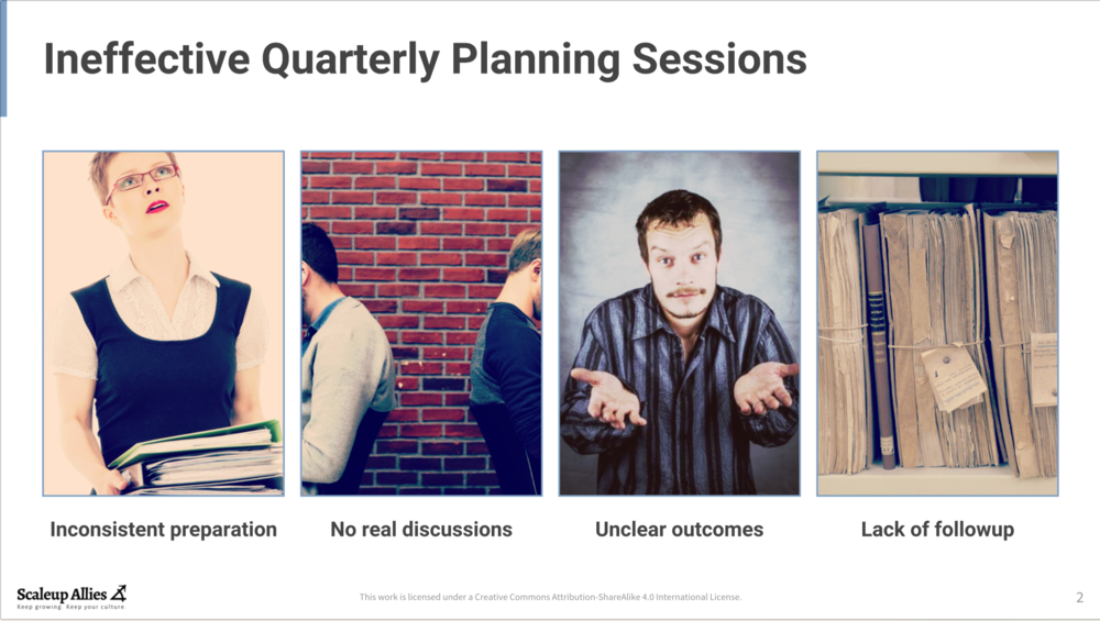 Ineffective Quarterly Planning Sessions