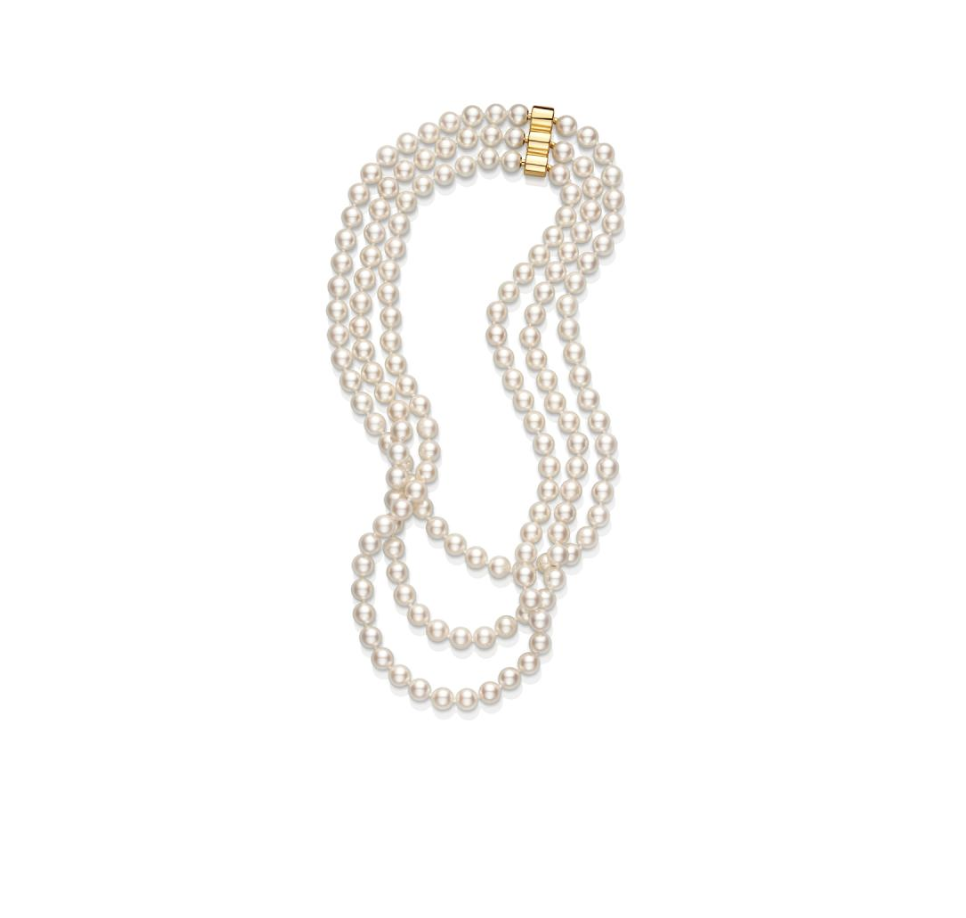 Three- Row Pearl Necklace