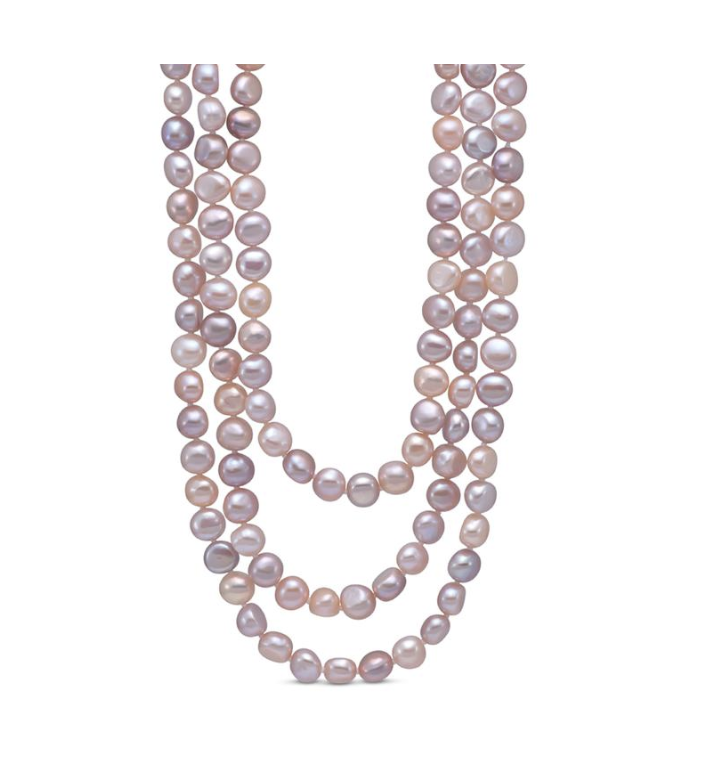 Color Fresh Water Pearl Strand Necklace