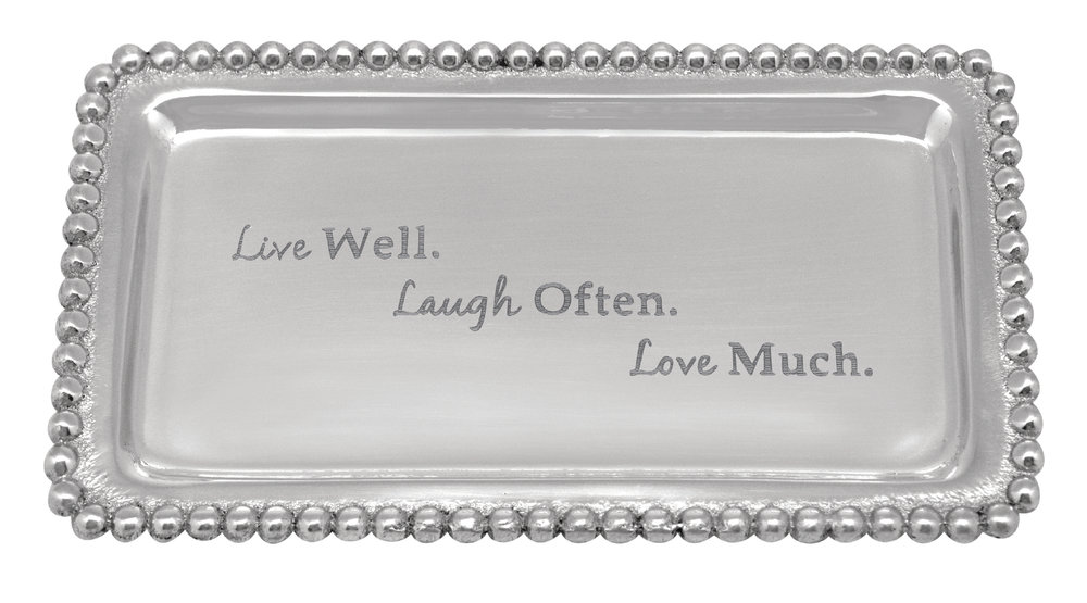 Live Well. Laugh Often. Love Much. Beaded Tray