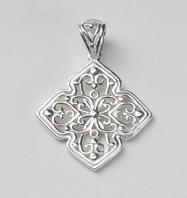 Southern Gates Small Four Petal Scroll Pendant