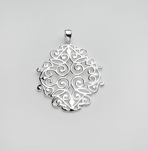 Southern Gates Open Edge Scroll Pendant