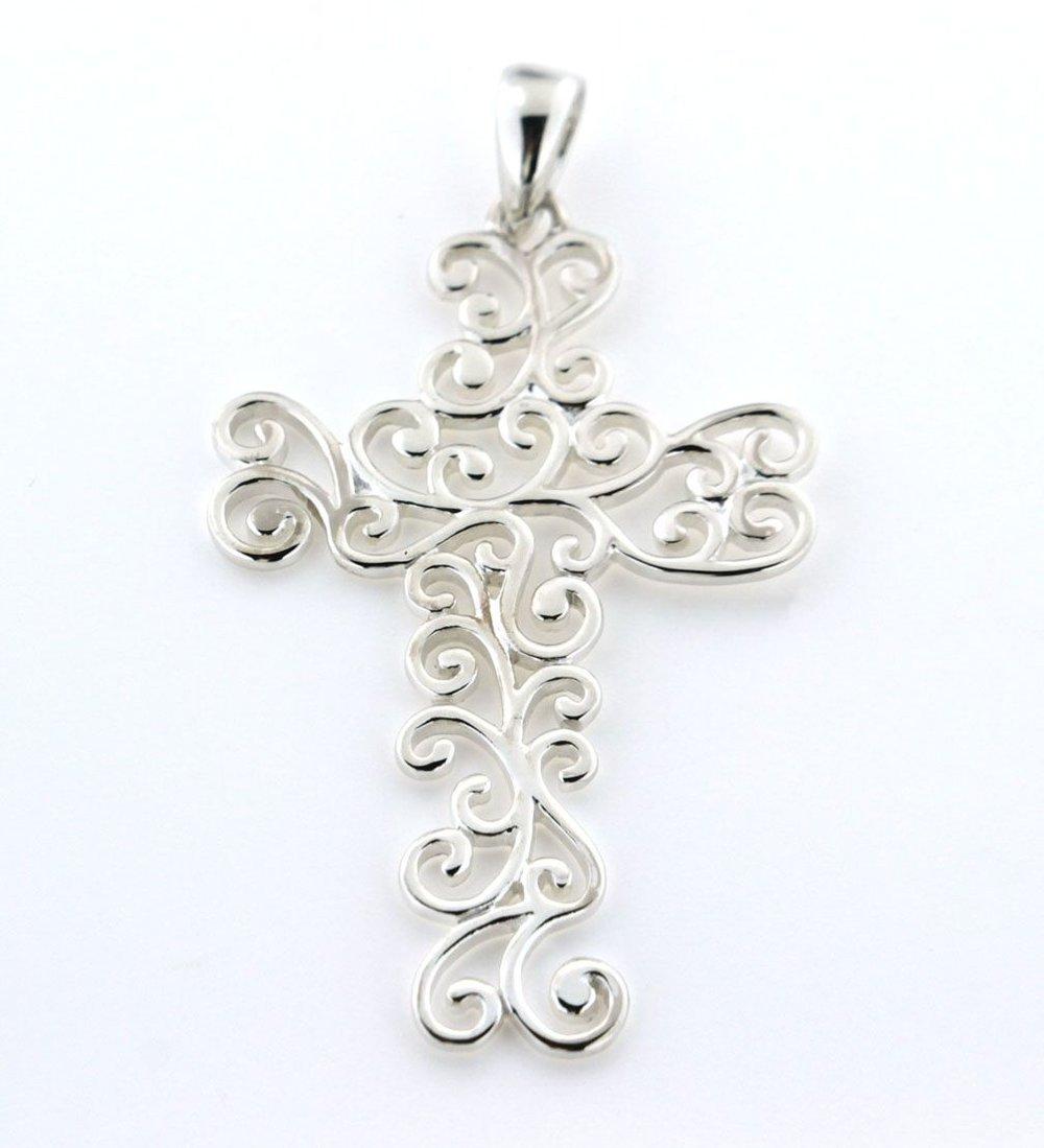Southern Gates Small Swirl Cross Pendant