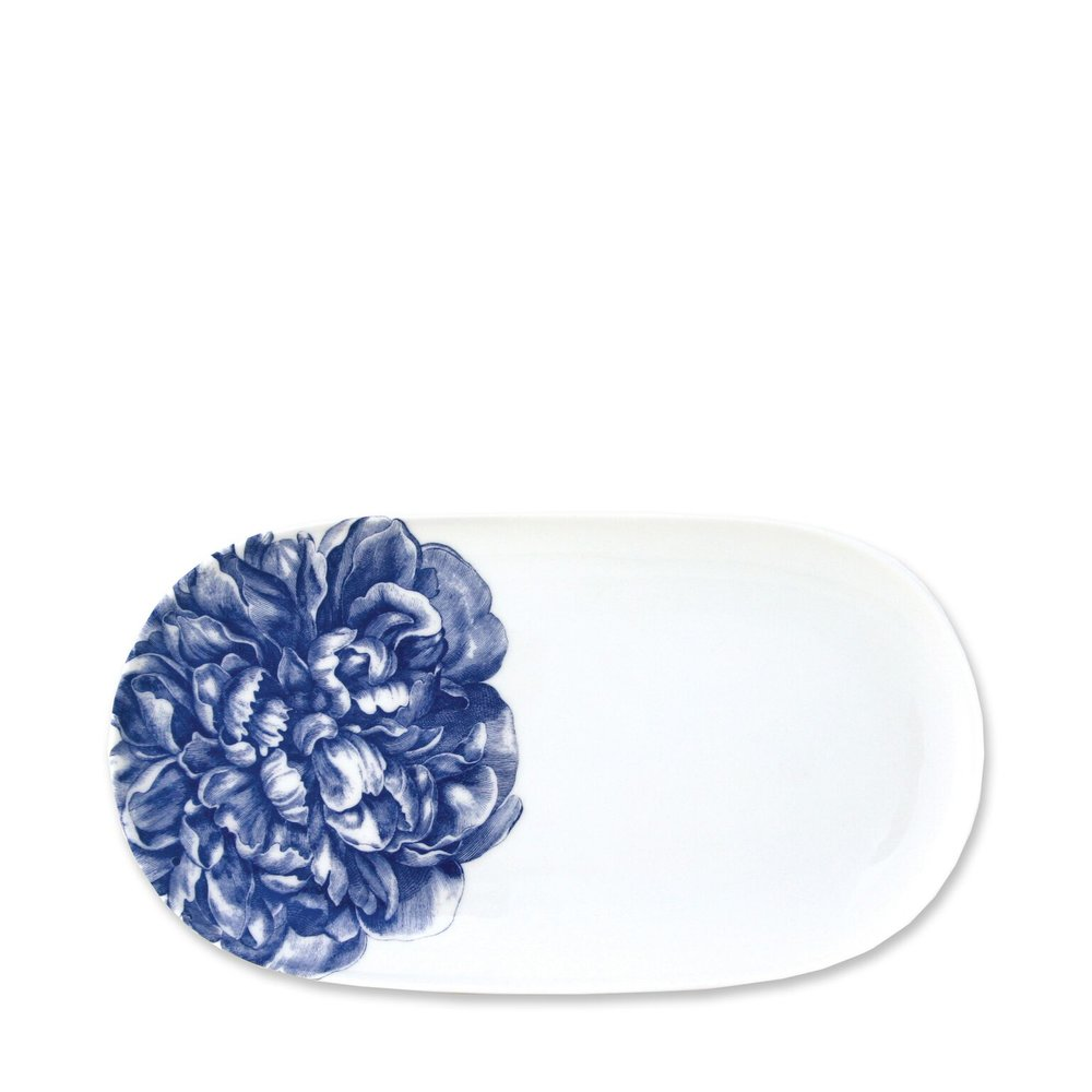 Peony Blue 12 Inch Oval Platter
