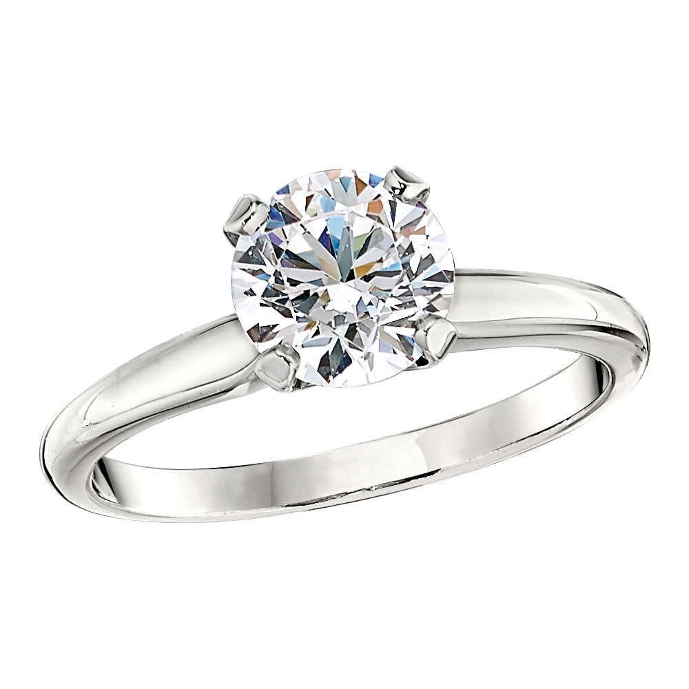 Gooseneck Style Classic Solitaire Engagement Ring