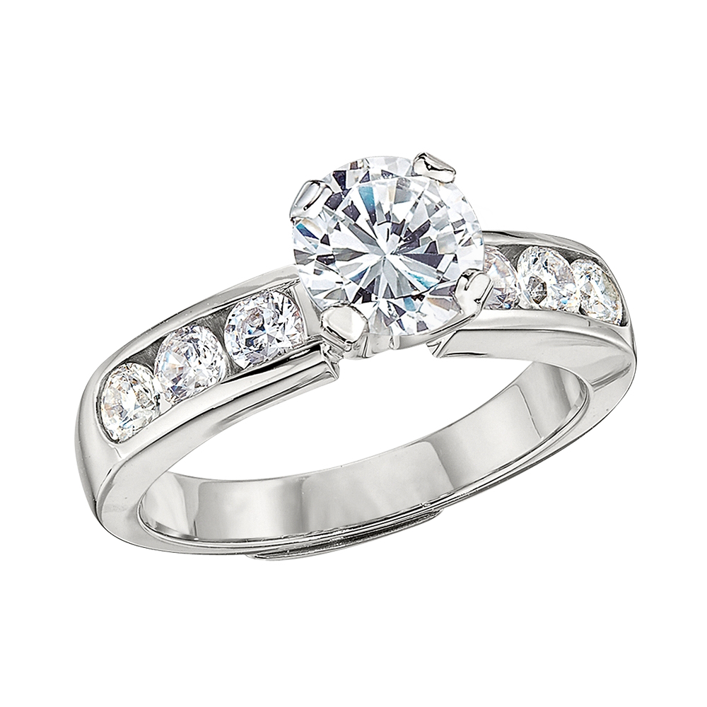 Solitaire Channel Set Ring