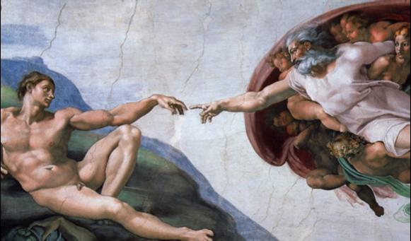 Michelangelo's  Creazione di Adamo
