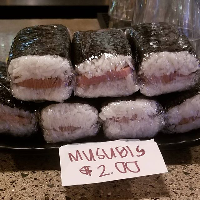 Musubis at the bar? Yes please!