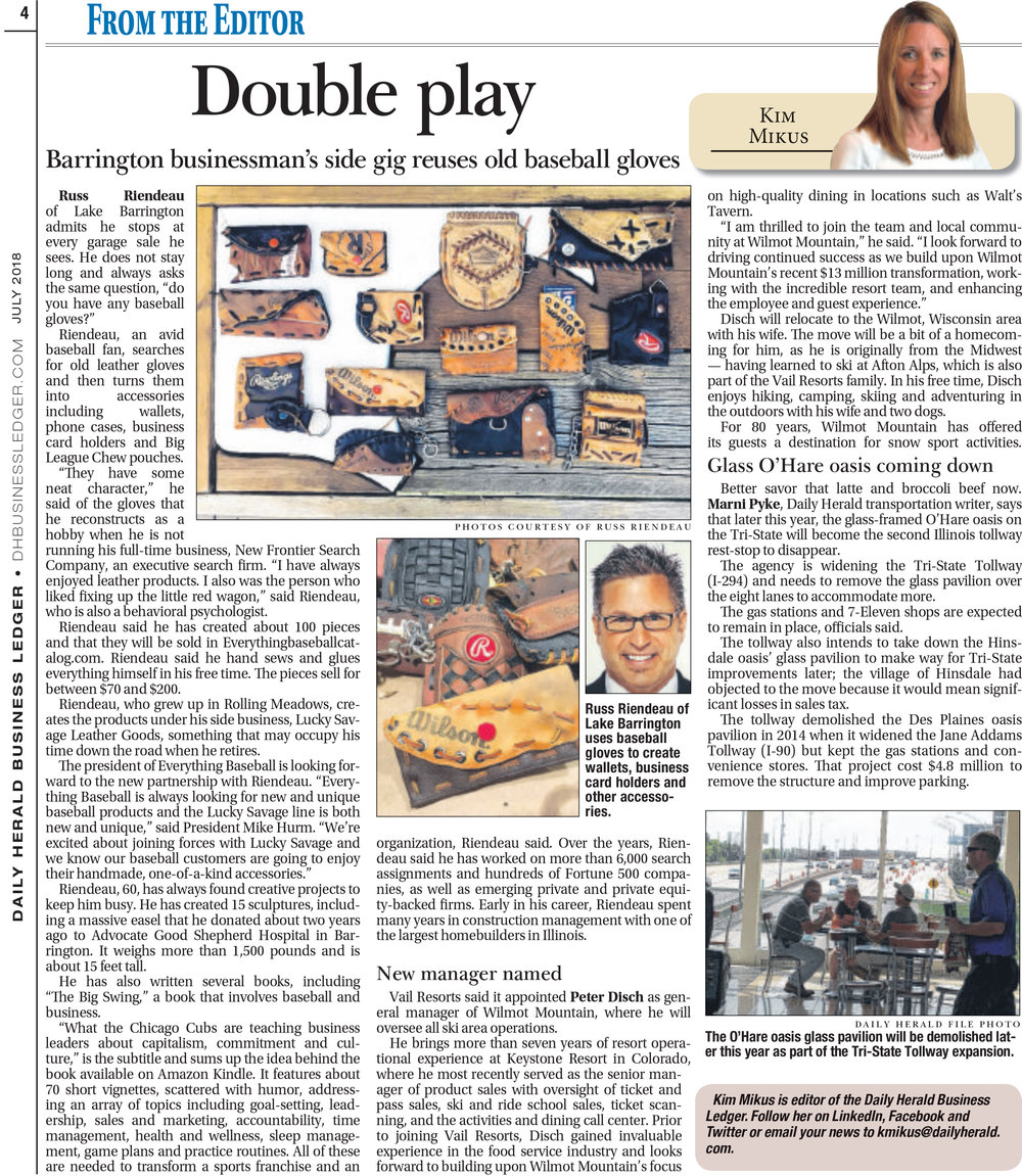 See the latest story on Lucky Savage Leather Goods in the Daily Herald -