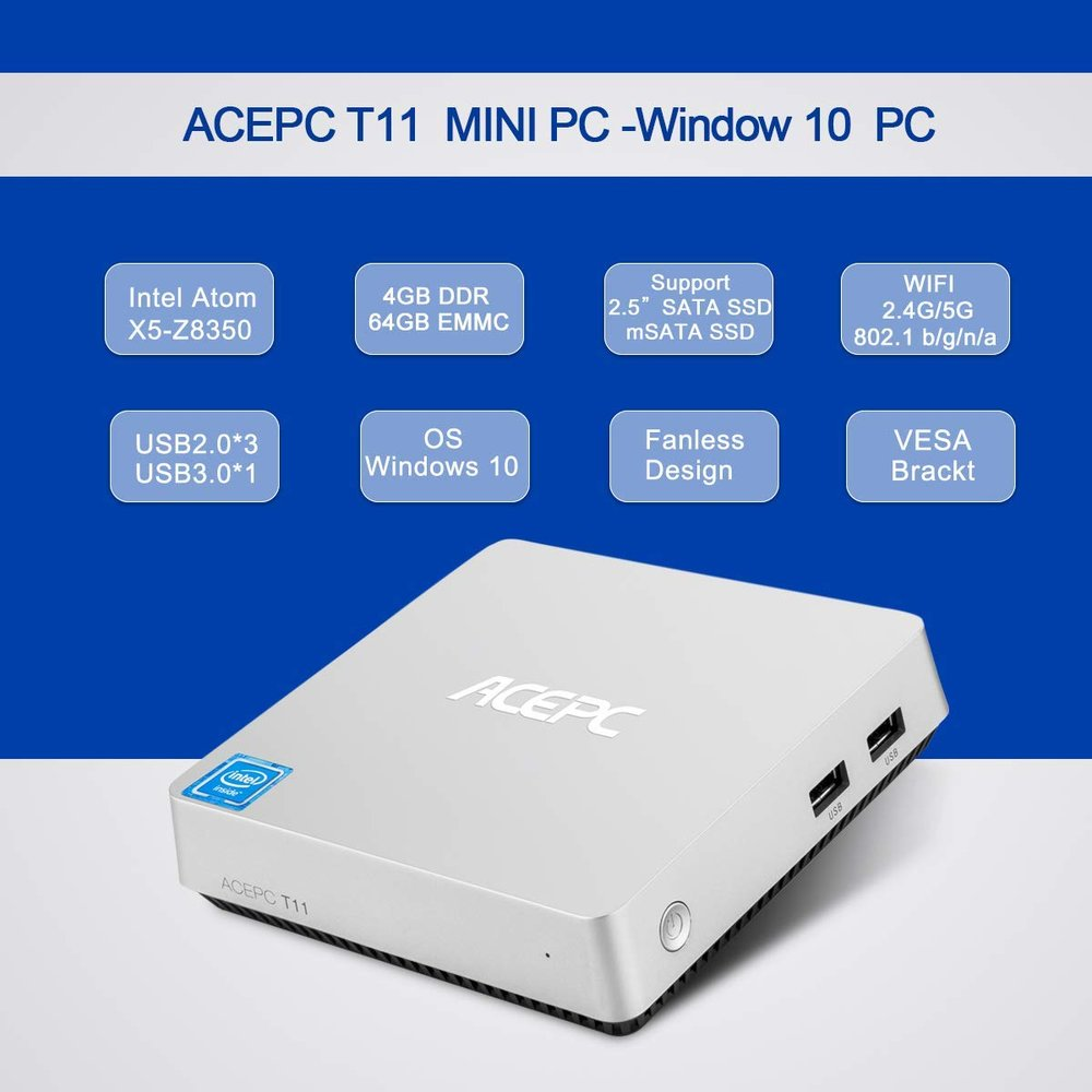 ACEPC T11 Fanless Mini Desktop Computer — The Computer Group