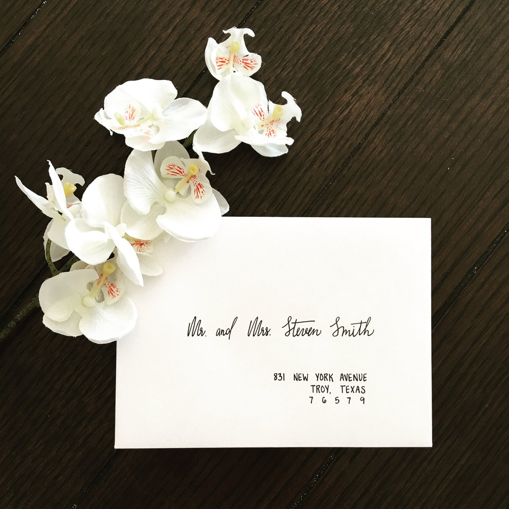 Modern Wedding Envelope Calligraphy
