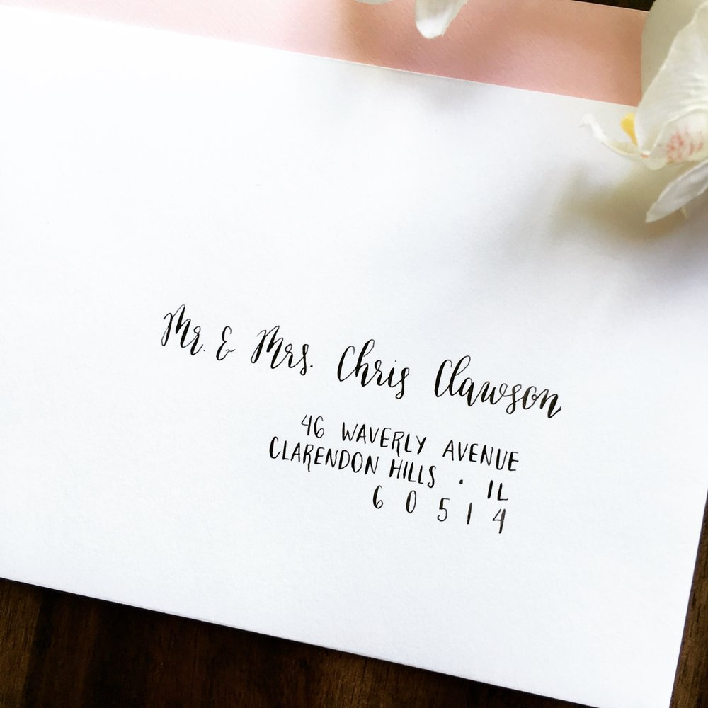 Wedding Envelope Calligraphy