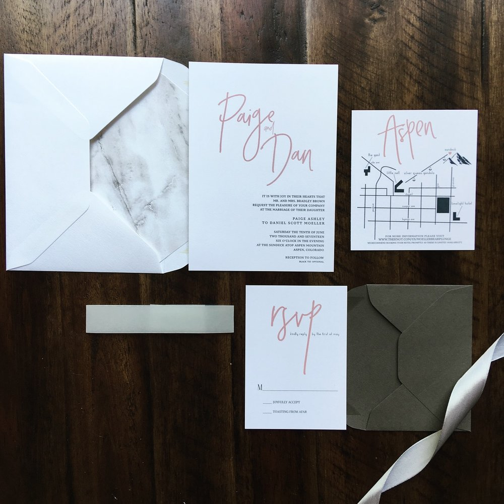 Wedding Invitation Suite- Modern