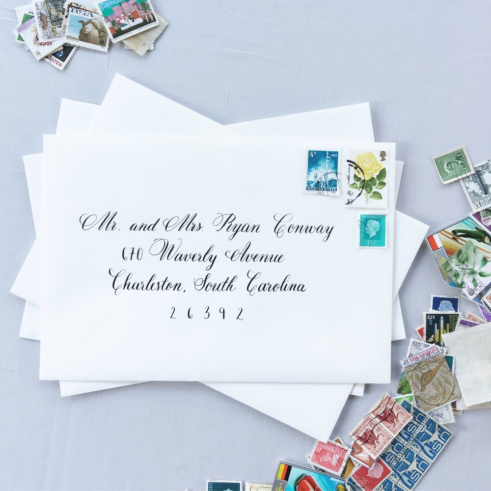 Formal Wedding Envelope Calligraphy