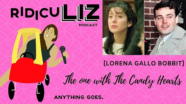 Tonight Liz is joined by the amazing Nancy and our long time friend Sarah! We are feeling the love in our Valentines day special and hope that you are as well! Today we tell you the harrowing tale of Lorena Gallo. Infamous for the occurrences on one night of her life, but we tell the real story about what lead up to it. Then of course we lighten the mood as always with our wheel of endings! Nancy has a real internal debate about the zombie apocalypse, and Liz and Sarah are both overjoyed over food!! Sit back, snuggle up, and hang out with us!  #truecrimecommunity #truecrimepodcast #ridiculiz #podcast #truecrime #lorena #lorenabobbitt #lorenagallo #bobbitt #keyandpeele #ladypodsquad #ladypodcasters #podcasting #podcastsofinstagram #podernfamily #recording #studio #zombieapocolypse #valentine #happyvalentinesday #valentinesepisode  Don't send us hate mail about dismembered members, But do send us your Ridiculous Stories!! Email us RidicuLizPodcast@Gmail.com  Visit us at RidicuLizPod.com Facebook.com/RidicuLizPod Twitter.com/RidicuLizPod Instagram.com/RidicuLizPodcast Patreon.com/RidicuLiz  Did your mom marry an axe murderer? Is your childhood home haunted? Tell us all the chisme! Email us your Hometown Crime Stories, Family Ghost Stories, or just overall Ridiculous Tales to RidicuLizPodcast@gmail.com  Artwork and graphics done by Ashley Cole. Visit her at AshleyMCole.com @nancyletisha @agape.sarahwhatley