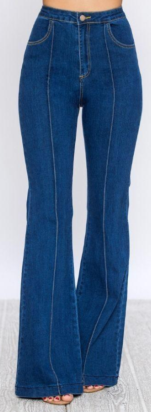 Effective immediately, I only want bell bottom  high waisted jeans.