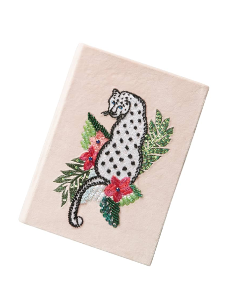 We're getting sentimental here guys. A  velvet hand embroidered notebook  is class on class on class! $28